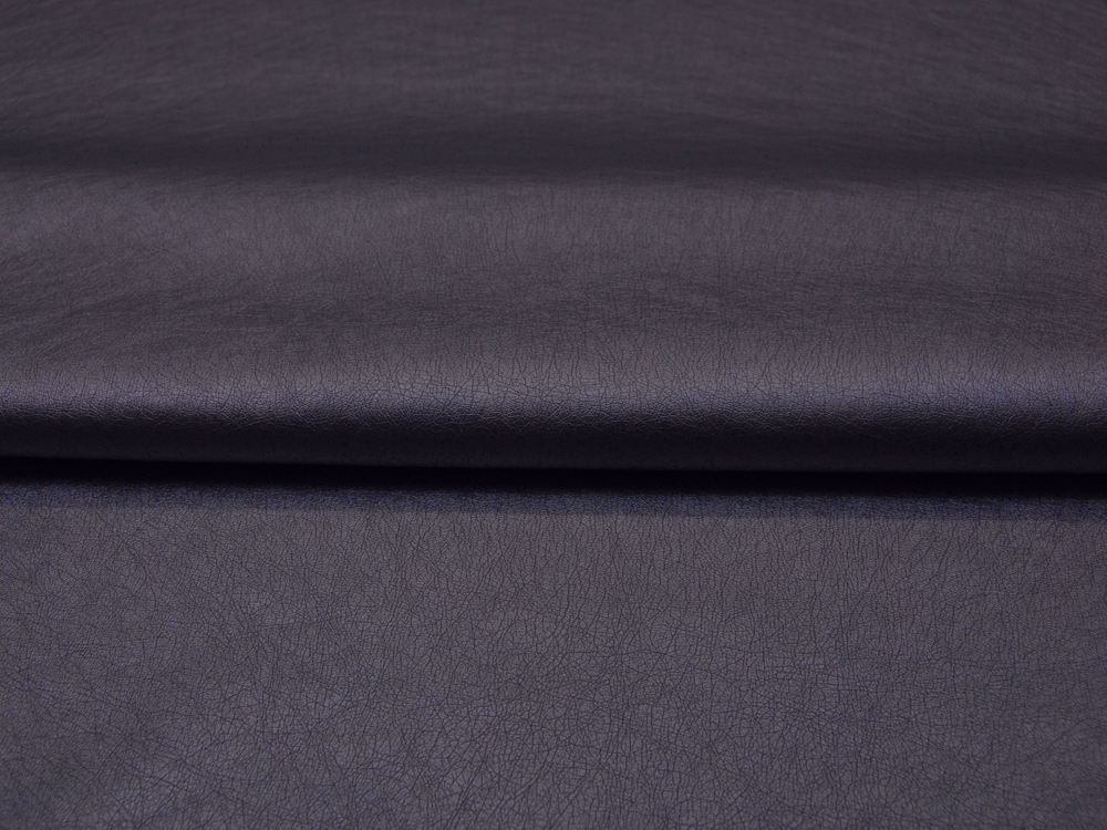 Weiches Kunstleder in Navy Metallic - 0,5 Meter - 1