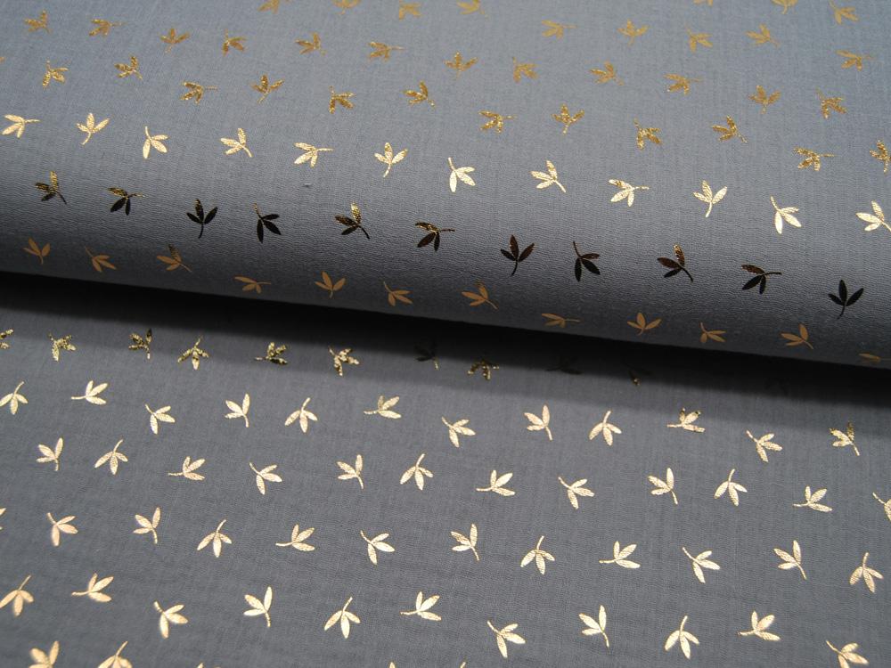 Kunstleder mattiert metallic SENF - 50