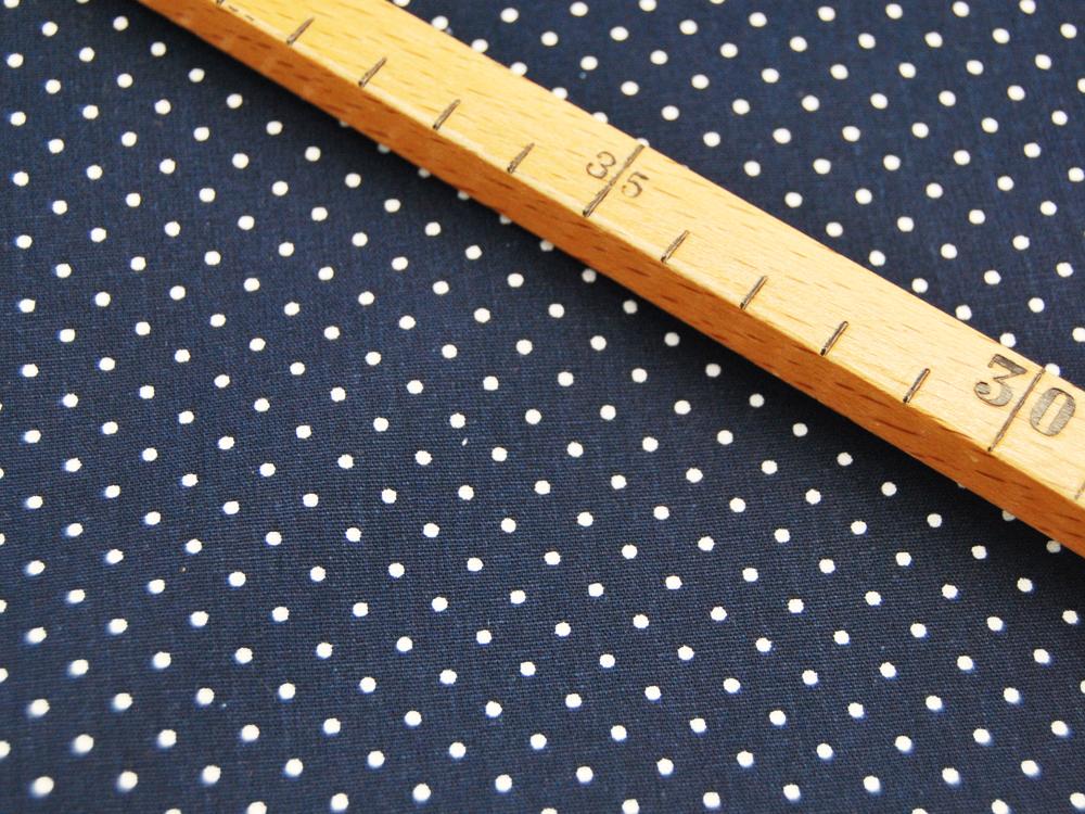 Petit Dots auf Nachtblau - Baumwolle