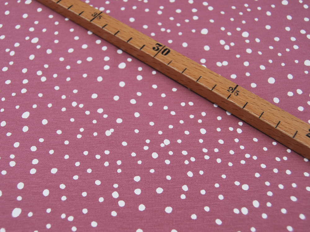 JERSEY - DOTS Rose - Punkte