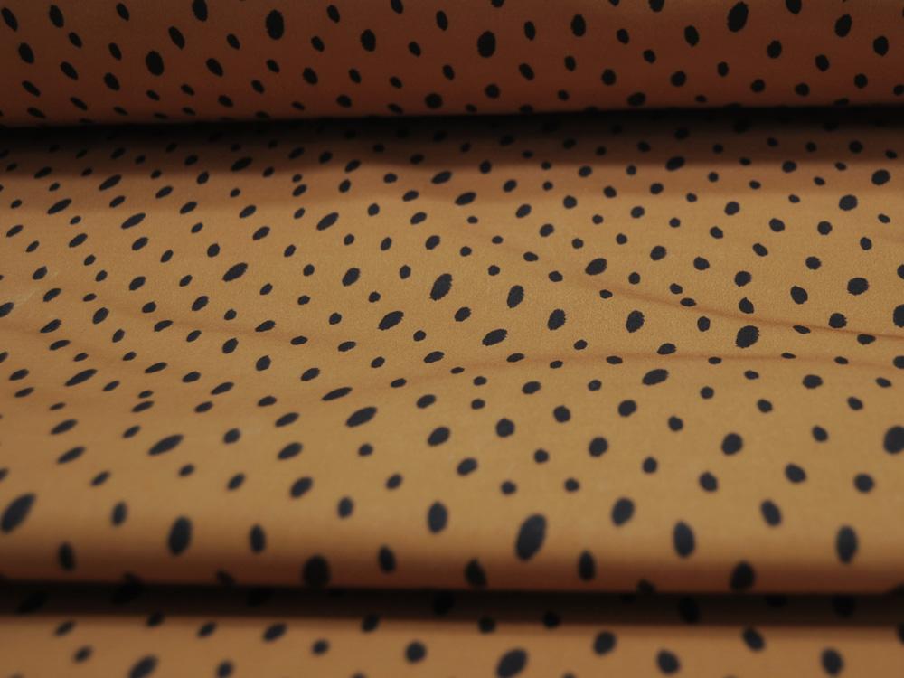 Softshell Dots Punkte auf Senf Mustard