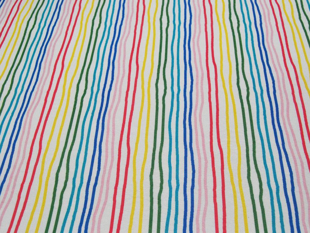 Kunstleder mit Streifenmuster - 50 x