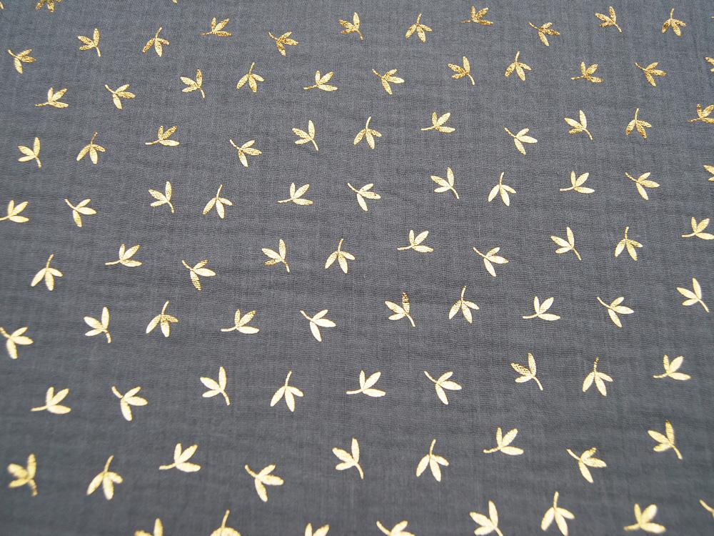 Kunstleder mattiert, metallic SENF - 50 x 138 cm - 2