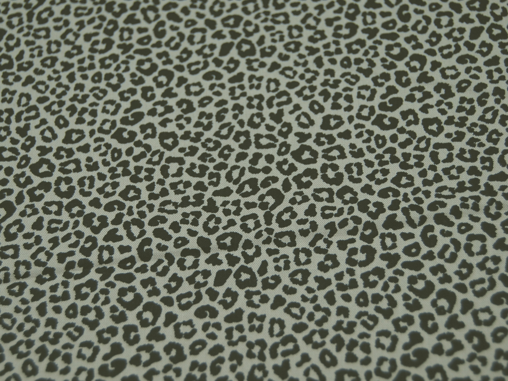 Baumwolle - Leopardenmuster SCHWARZ/SAND - 05