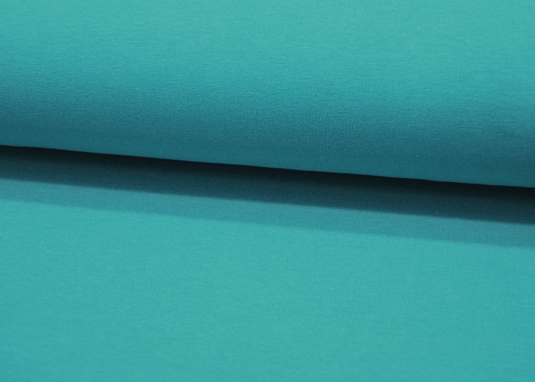 Jersey - Streifen Mattblau-Helltpetrol - 0.5 Meter