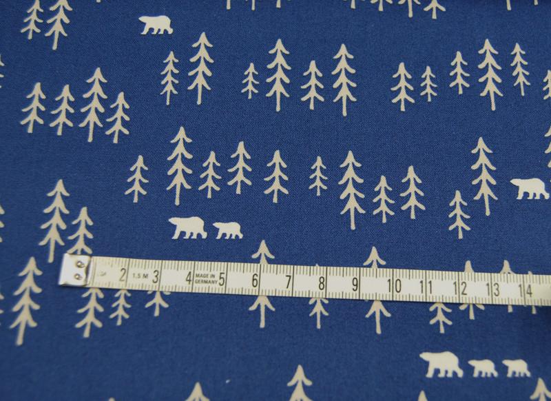 Bären und Bäume auf Blau - Copenhagen PF 0,5m