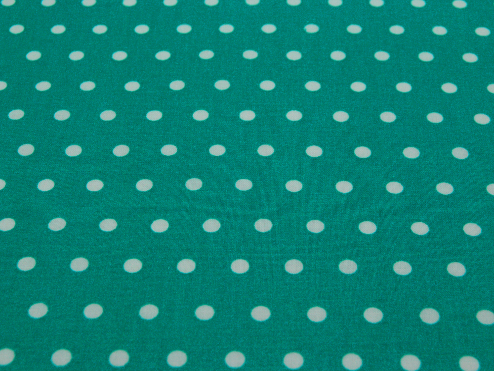Beschichtete Baumwolle Leona Dots auf Türkis