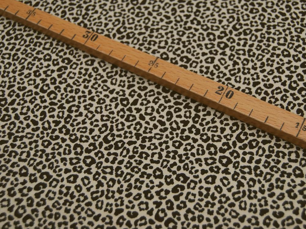 Jersey Leopard in Sand Schwarz Meter