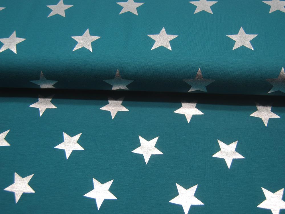 Beschichtete Baumwolle Äpfel auf Türkis 50x74
