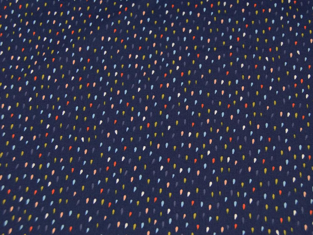 Colorful Drops- Bunte Tropfen auf Dunkelblau