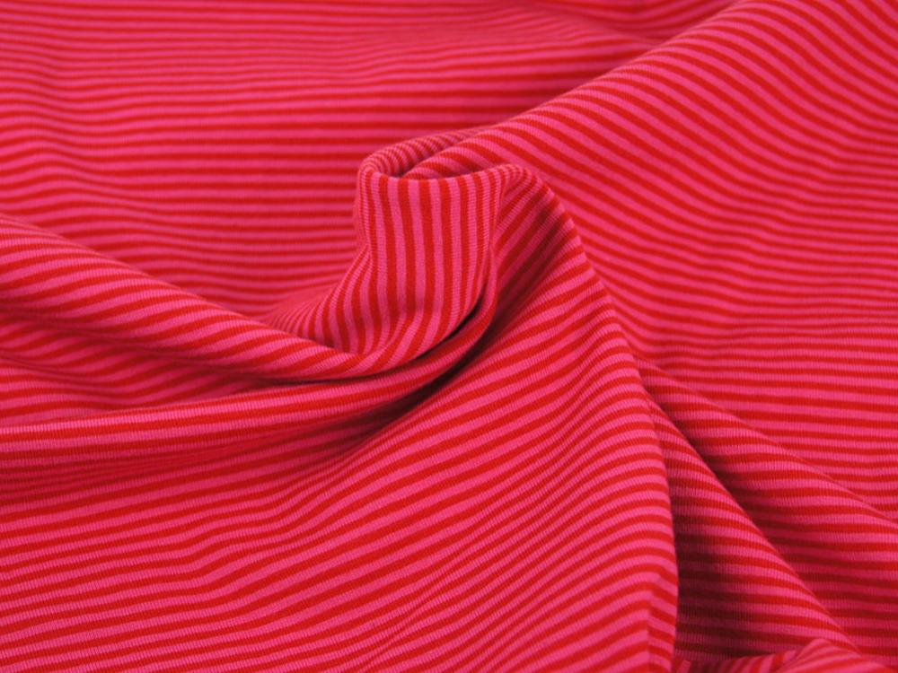 Jersey - Streifen Rot-Pink - 05