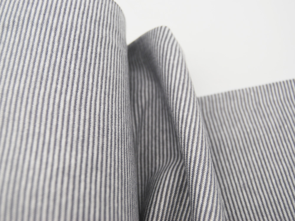 Bündchen Ringelbündchen Grau-Weiß cm im Schlauch