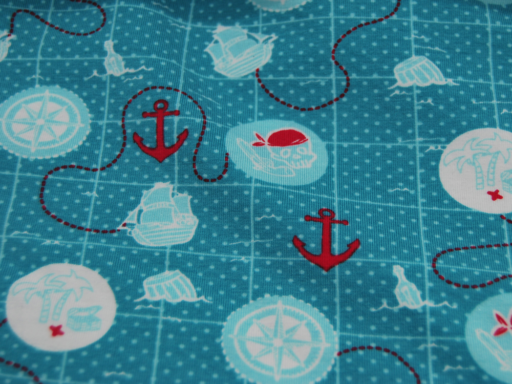 Jersey - Piratige Reiseroute / Seekarte