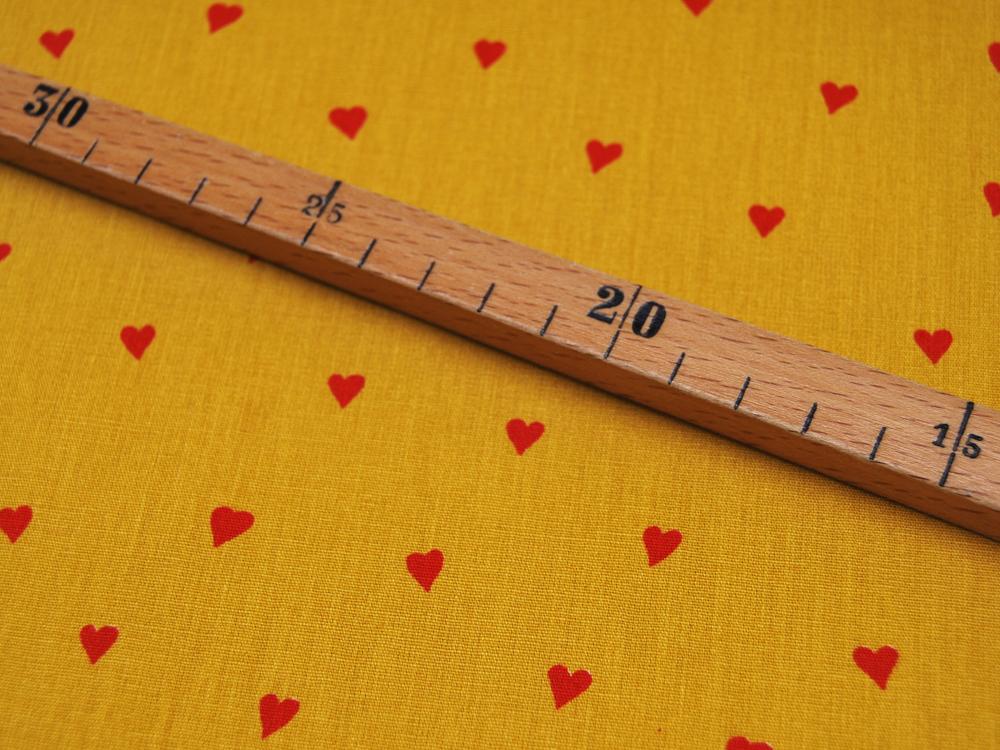 You re Sweetheart Rote Herzen auf Ocker