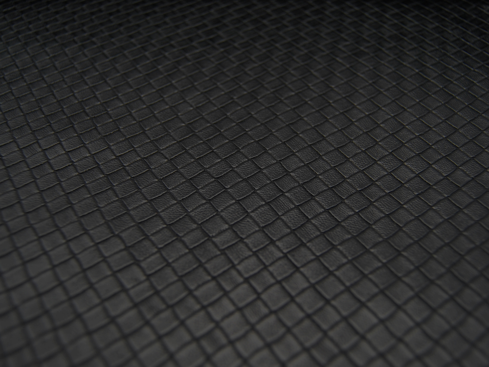 Kunstleder Square Graphisches Muster auf Schwarz