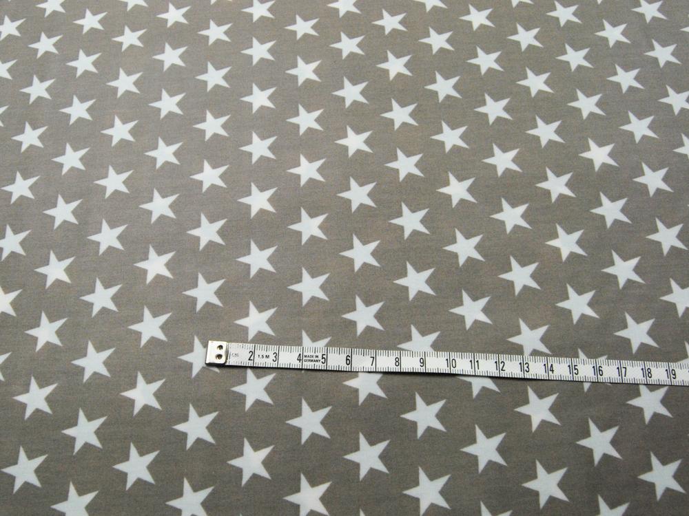 Beschichtete Baumwolle - Sterne auf Beige 50x70 cm - 1