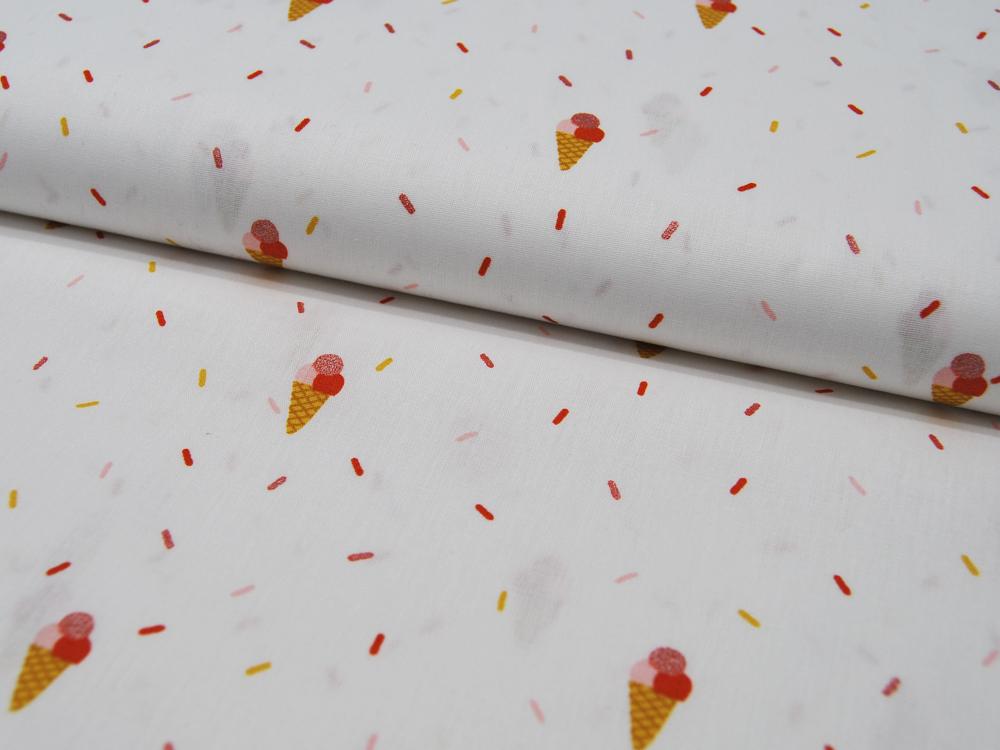 Baumwolle Glitter Joyful Stripes Eis und