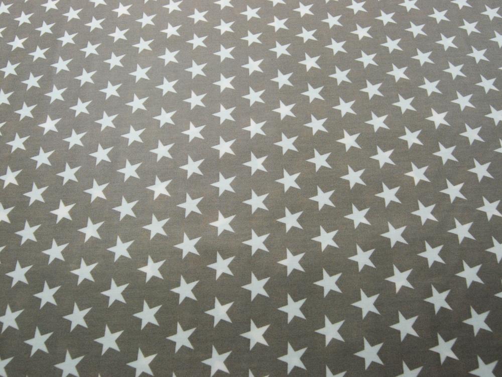 Beschichtete Baumwolle Sterne auf Beige 140cm