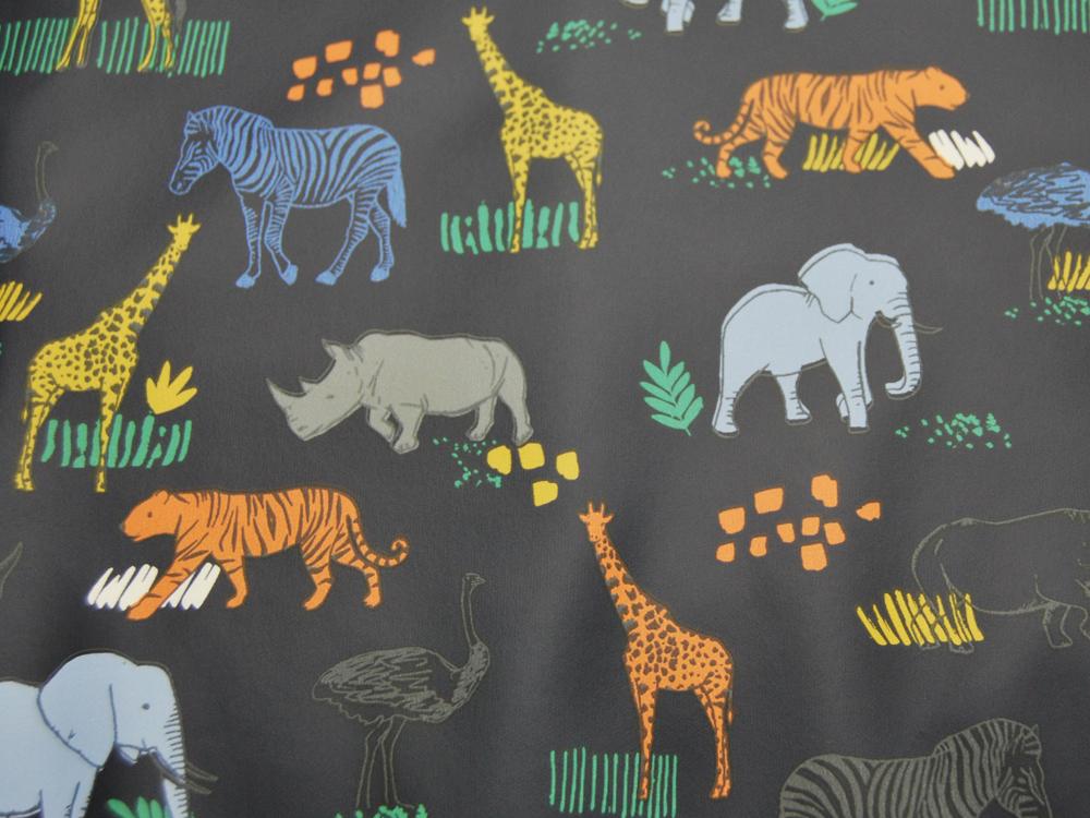 REGENJACKEN STOFF - Tiere auf Nachtblau - 50 x 140 cm - 3