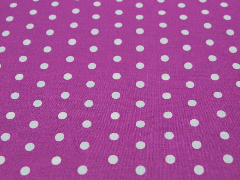 Beschichtete Baumwolle Leona Dots auf Beere