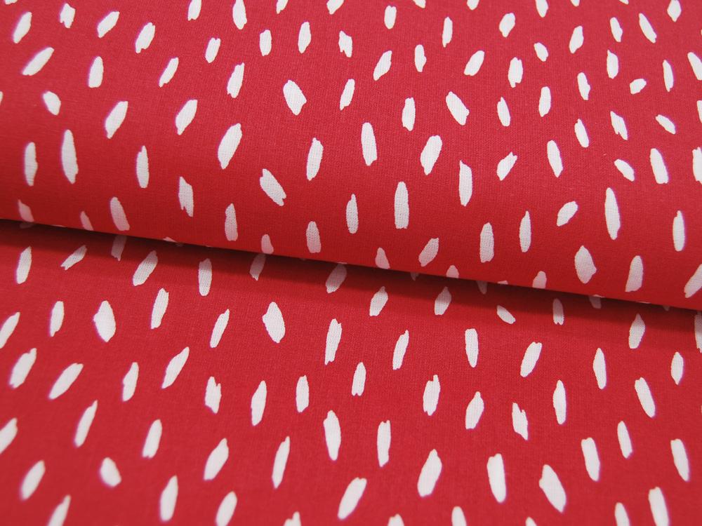 Baumwolle Stripes Kleine Streifen Weiß auf