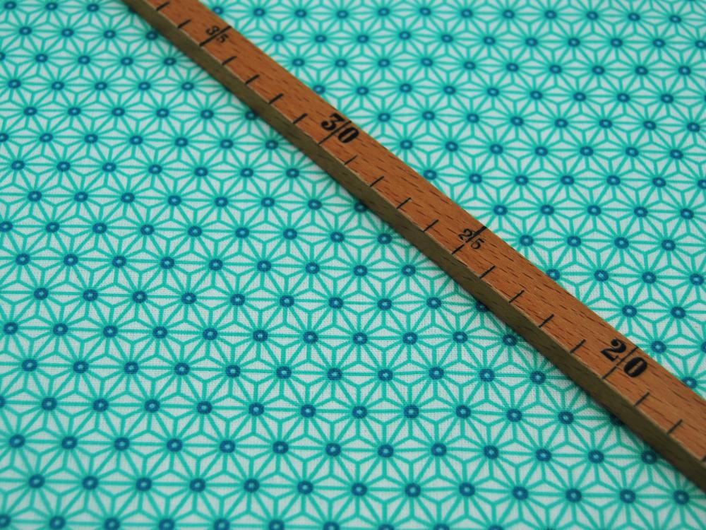 Beschichtete Baumwolle Asanoha Mint 50 x