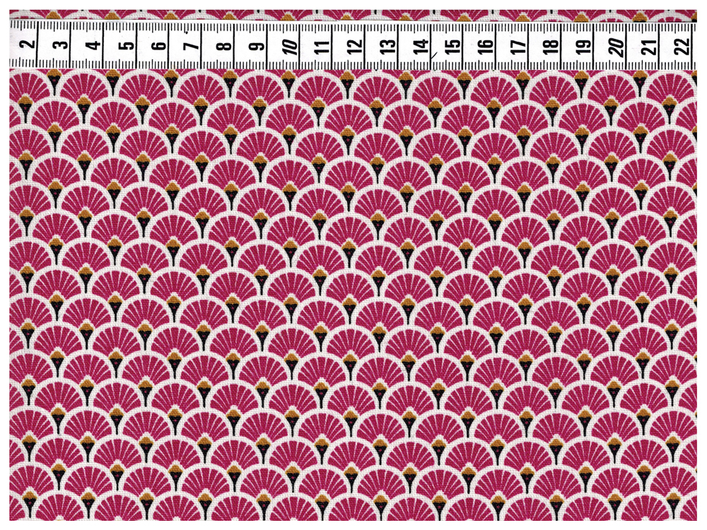 Beschichtete Baumwolle - Wellenmuster Bordeaux 50 x75 cm