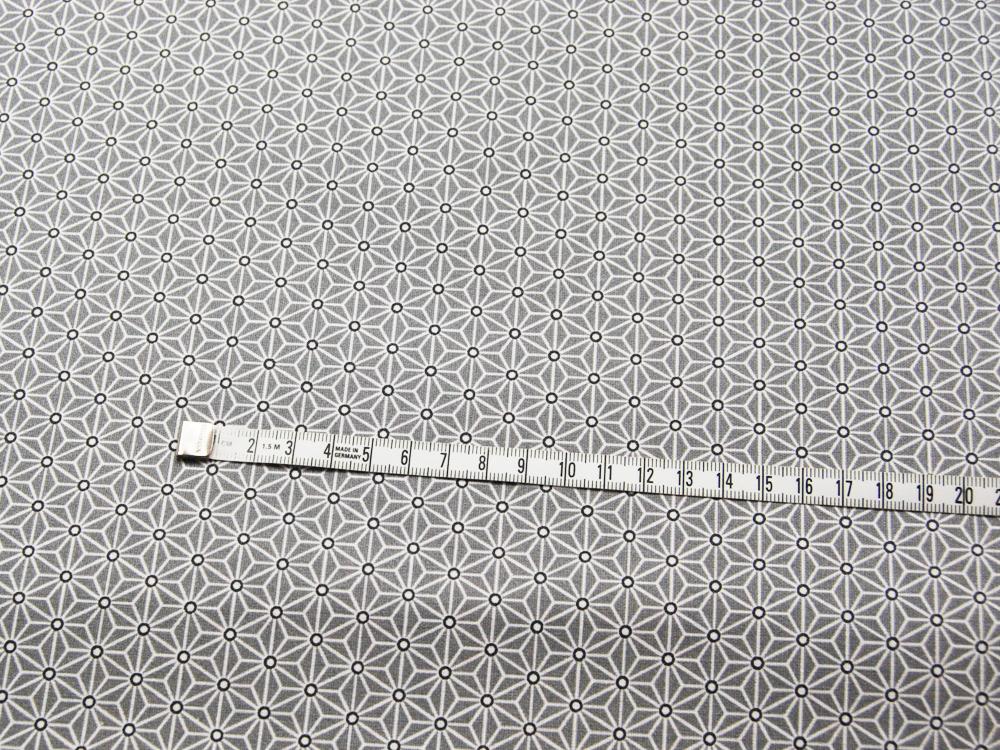 Beschichtete Baumwolle Asanoha Hellgrau 50 x