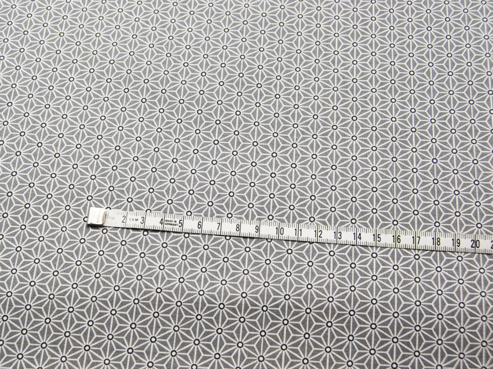 Beschichtete Baumwolle Asanoha Hellgrau 50 x 75 cm - 1