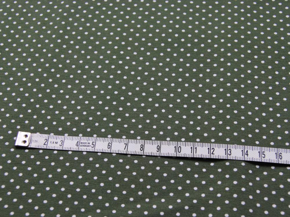 JERSEY - Olivgrün mit weißen Punkten - 0,5 m - 3