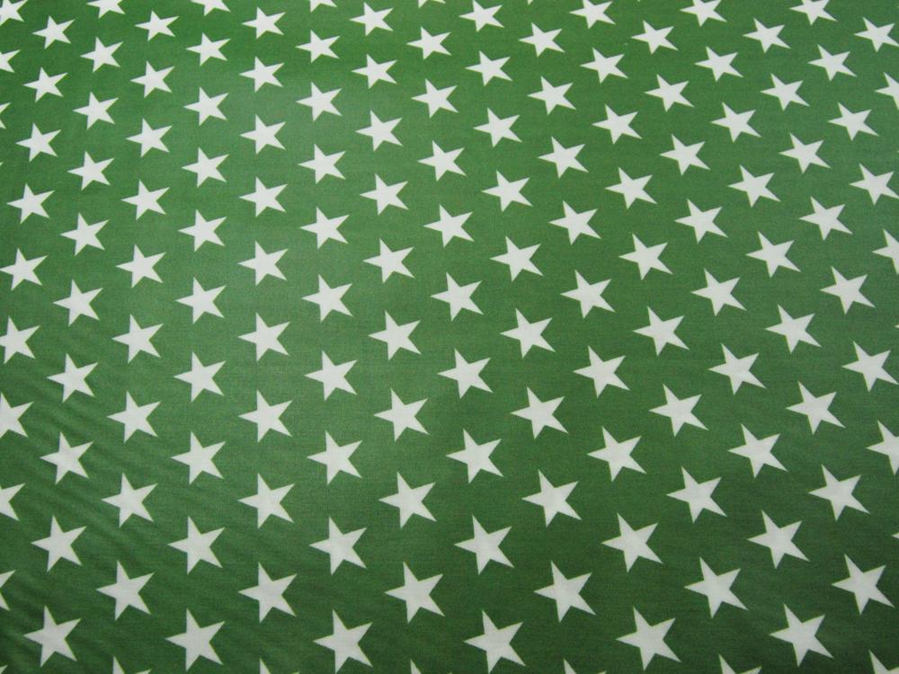 Beschichtete Baumwolle - Sterne auf Waldgrün 50x70 cm - 1