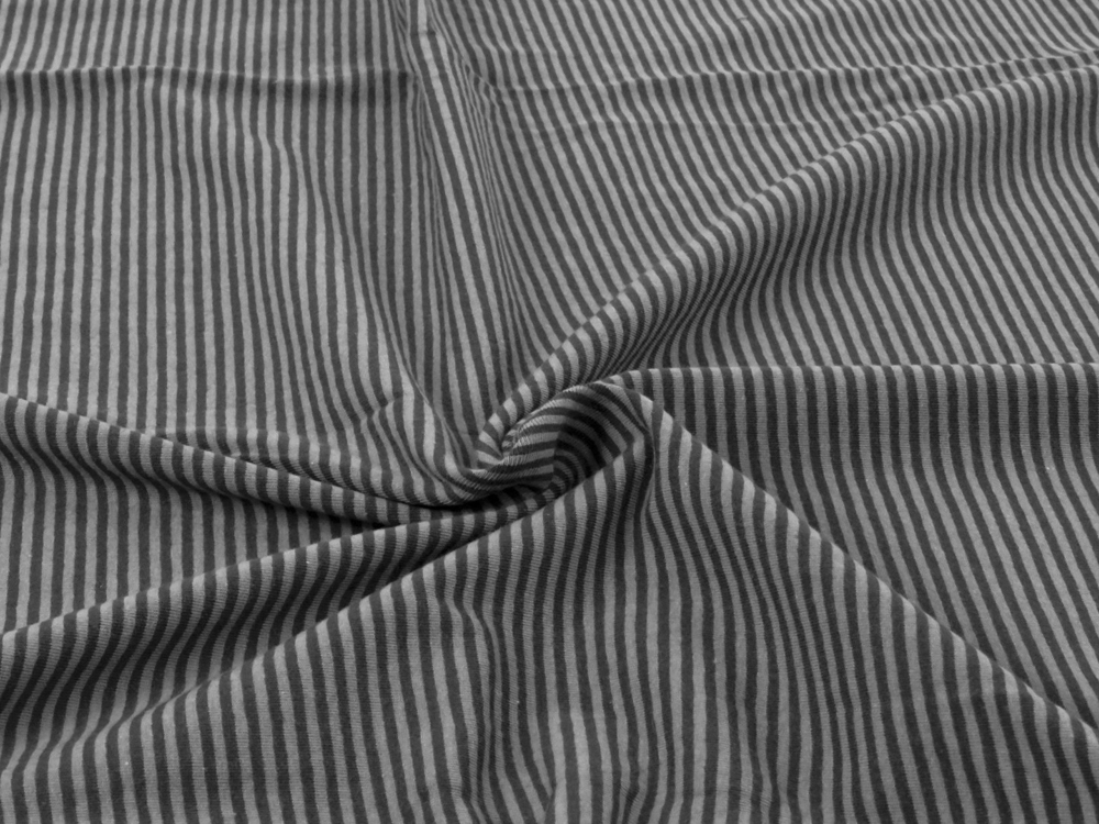 Jersey - Streifen Dunkelgrau-Grau - 05