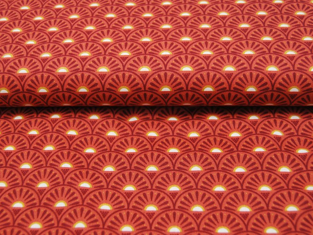 Baumwolle Retro Graphic Rost Rust- Meter