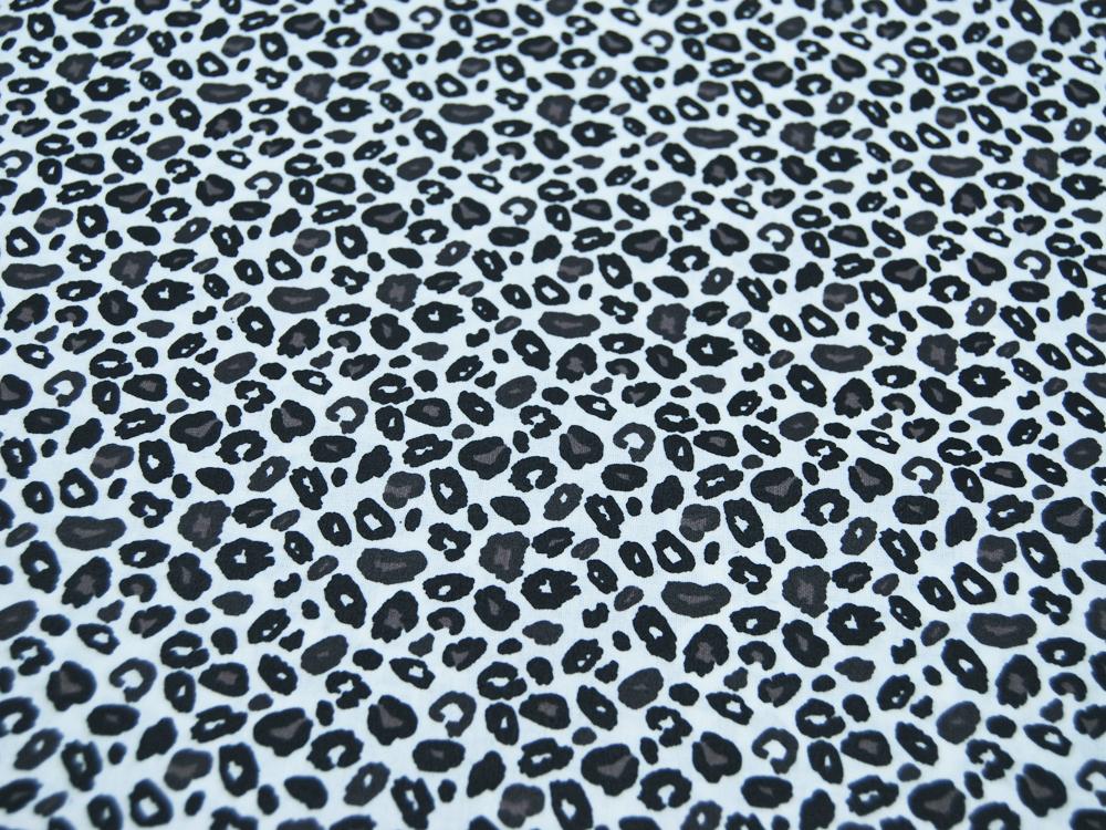 Beschichtete Baumwolle Leoparden Style Grau- 145cm