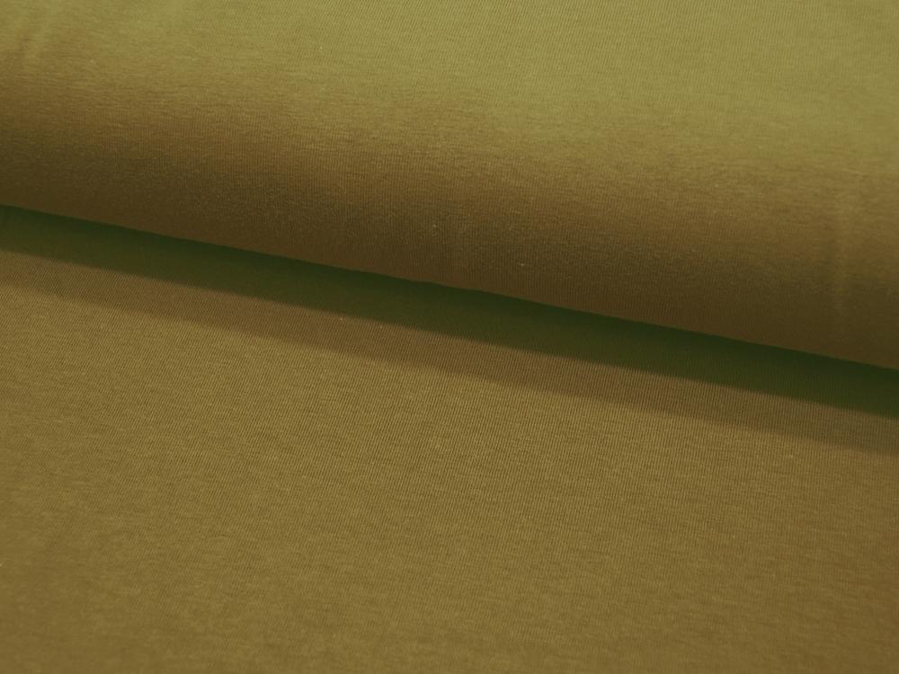 Jersey GOTS Uni: Olive Dunkles Senf