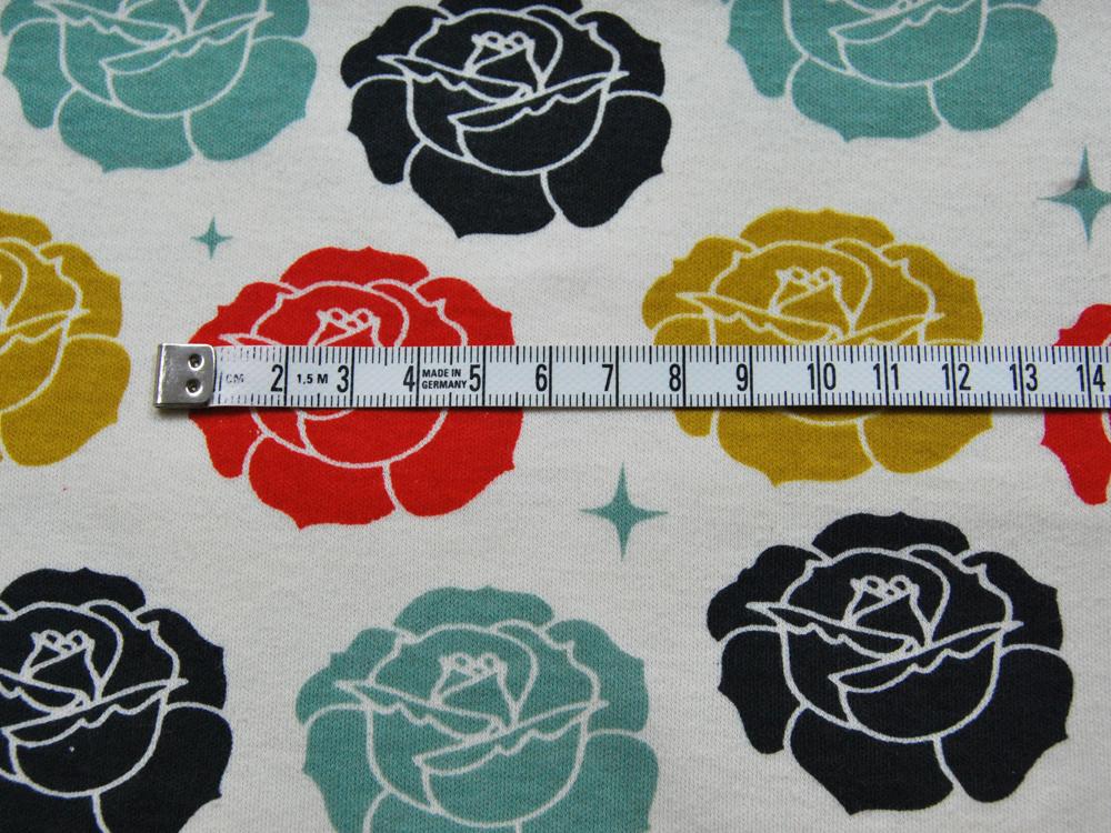 Jersey - BIO - Birch - Stamped Rose Cream - 0.5m - 1