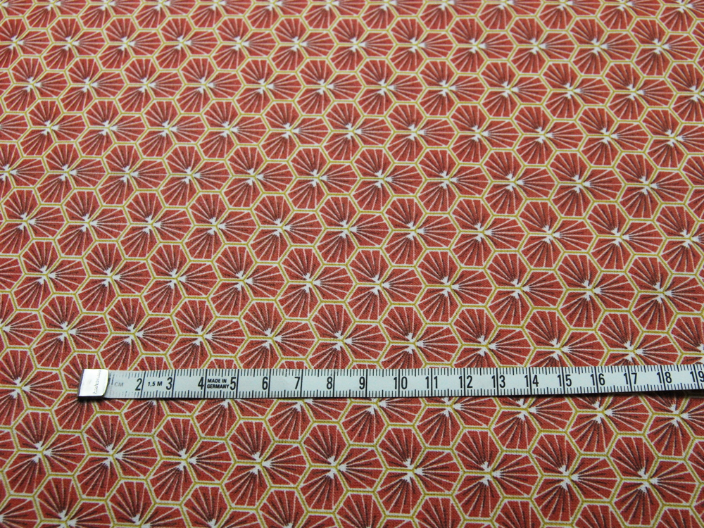 Beschichtete Baumwolle Honigwaben BURGUNDY - 50