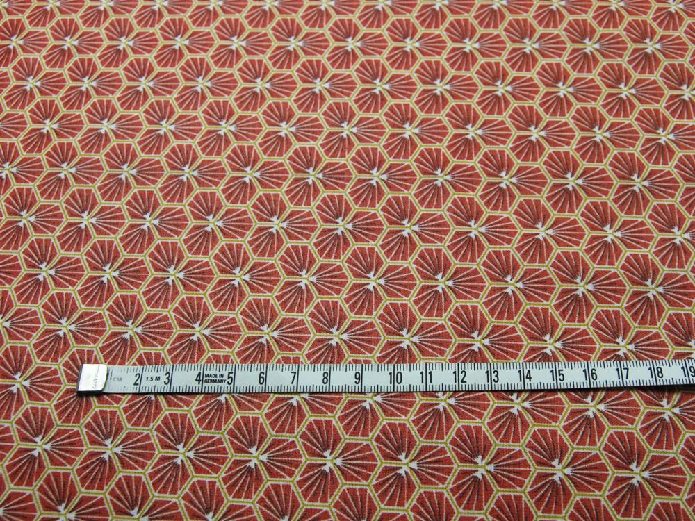 Beschichtete Baumwolle Honigwaben BURGUNDY - 50 x 76 cm - 2