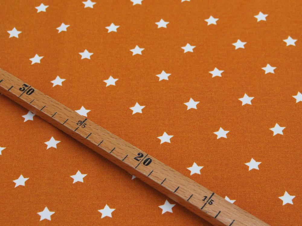 Beschichtete Baumwolle Sterne auf Senf 150cm