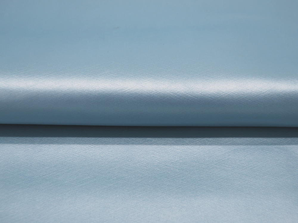 Kunstleder mattiert metallic Hellblau - 50