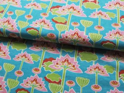 Jersey BIO -Wasserlilien 05m Oranic Cotton
