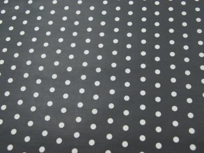 Beschichtete Baumwolle - Weiße Dots auf Dunkelgrau 50x70 cm