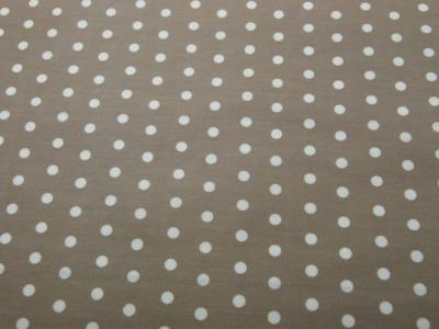 Beschichtete Baumwolle Weiße Dots auf Beige