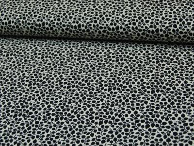 Schwarze Ranken auf Creme Baumwolle 05m