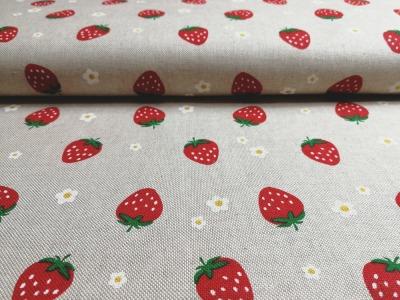 Erdbeeren auf Natur - Dekostoff - 0 5m