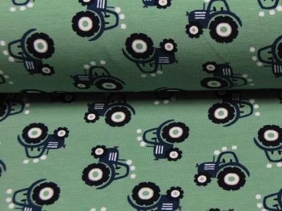 Jersey - Mini Tractor - Blaue Trecker auf Olivegruen - 0 5 Meter