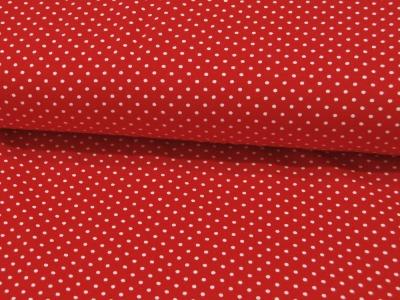 JERSEY Rot mit kleinen weißen Punkten