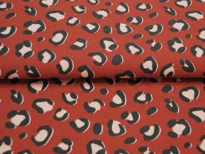 Beschichtete Baumwolle - Fächermuster Grau 50 x75 cm