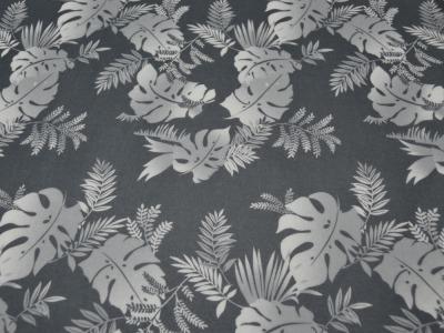 Beschichtete Baumwolle Blumenmuster auf Grau 50x68