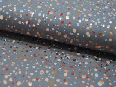 Beschichtete Baumwolle - UNI - Blau 50 x 65 cm